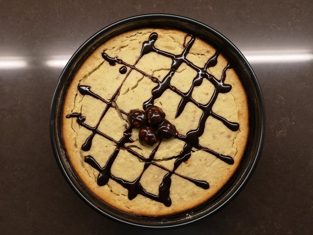 Maroni Cheesecake mit Brownie Boden